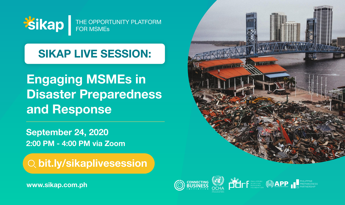Engaging MSMEs in Disaster Preparedness and Response