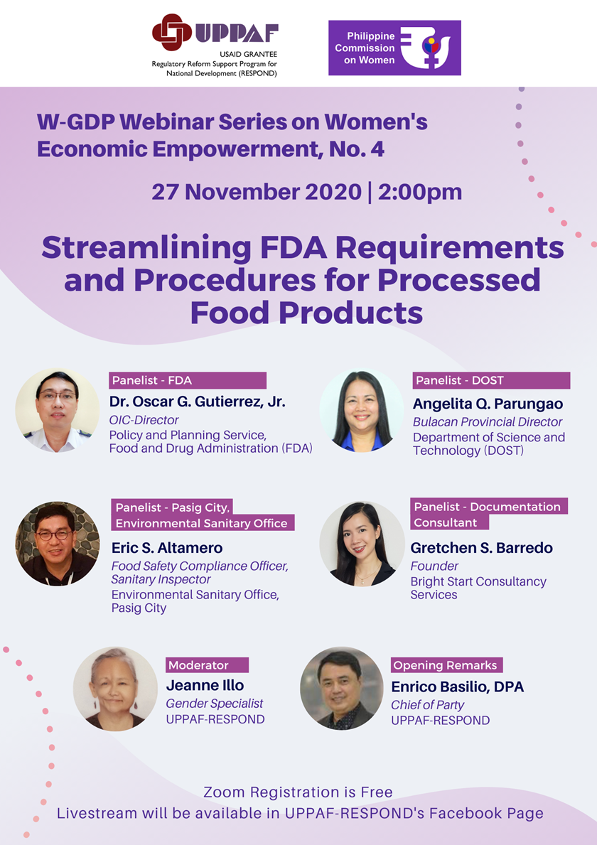 Streamlining FDA Requirements & Procedures for Processed Food Products